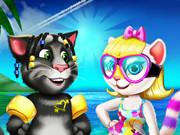 أنجيلا وتوم عطلة الشاطئ