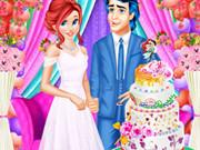 ارييل وإريك طبخ كعكة الزفاف