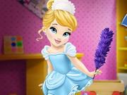 طفل سندريلا تنظيف المنزل