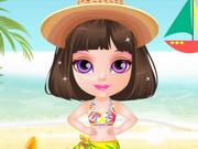 ملابس البحر- العاب تلبيس طفلة صغيرة
