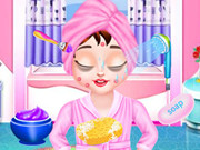 اطفال بناتي- العاب تنظيف الوجه والجسم والشعر والاظافر