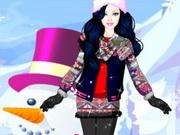 تلبيس باربي ملابس الشتاء البارد