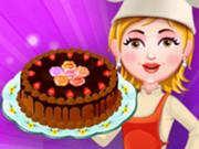 طبخ كيك الشوكولاتة والقشطة مع سارة