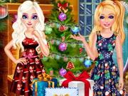 إلسا وباربي عشية عيد الميلاد