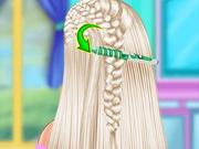 السا تسريحة شعر جديلة ملونة