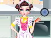 بنات تلبيس إلسا ملابس المطبخ