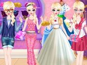 تلبيس السا ملابس كثيرة جدا وجميلة- Elsa Dress Style Attempt