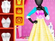 استوديو الموضة تصميم فستان ملكة الثلج