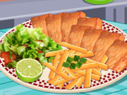 طبخ سمك و شيبس البطاطا