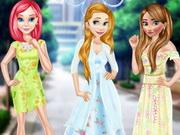 الأميرات ملابس الزهور