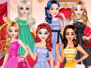 الأميرات تجريب تنورة لون مختلف