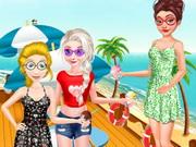 الاميرات عطلة الصيف علي شاطئ البحر