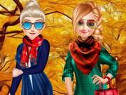 تلبيس الاخوات سترة الخريف