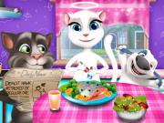 توم وانجيلا مرح العشاء