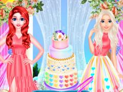 طبخ كعكة زفاف كول- العاب طبخ اريل والسا